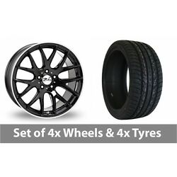 4 X 20 Zito Zl935 Black Polished Alloy Wheel Rims And Tyres - 275/35/20