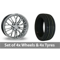 4 X 19 Zito Miracle Hyper Black Alloy Wheel Rims And Tyres - 235/40/19