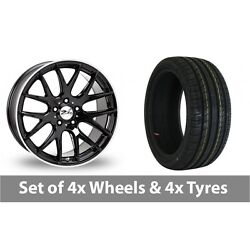 4 X 22 Zito Zl935 Black Polished Alloy Wheel Rims And Tyres - 305/40/22