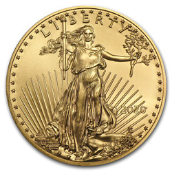 Ch/gem Bu 2021 1 Oz. 50 American Eagle Gold United States Coin 1 Ounce Type 1