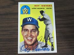 1994 Topps Archives 245 Roy Sievers Autographed Signed Card Washington Sentors