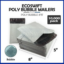 10000 000 4x8 Self Seal Poly Bubble Padded Envelopes 5 X 8 X-wide Mailers Bags