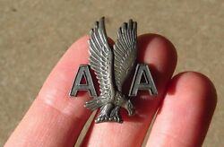 1950s American Airlines Ground Crew Agent Hat Cap Badge Pin Sterling Lgb Balfour