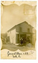 Wells Pa - General Store And Post Office - Rppc Postcard Bradford County