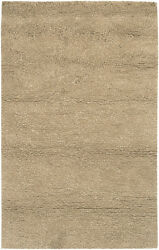 4x6 Surya Hand Made Wool Tan Shag Soft 8685 Area Rug - Approx 3and039 6 X 5 And0396