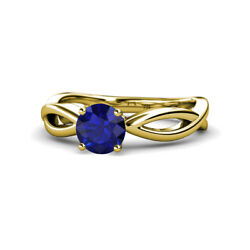 Blue Sapphire Solitaire Engagement Ring 0.95ct In 14k Yellow Gold Jp111340