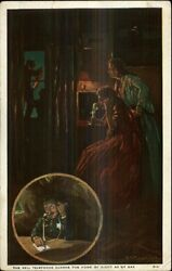 New England Telephone And Telegraph Co The Home By Night Postcard