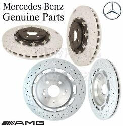 For Mercedes C190 R190 Amg Gt S Set Of 2 Front And Rear Brake Disc Rotors Kit