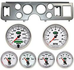 79-86 Mustang Silver Dash Carrier W/ Auto Meter Nv Gauges