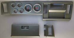 82-86 S10 Pickup Silver Dash Carrier W/ Auto Meter Ultra Lite Electric Gauges