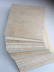 40 Pieces 1 8quot; 3mm x 8.5quot; x11quot; Baltic Birch Plywood for CNC Laser Scroll Saw