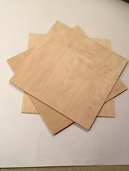 5 Piece 1 8quot; 3mm x 12quot; x 12quot; Baltic Birch Plywood CNC Laser Scroll Saw Wood