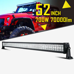 52inch 700w Led Work Light Bar Spot Flood 4wd Suv Boat Offroad For Jeep 50