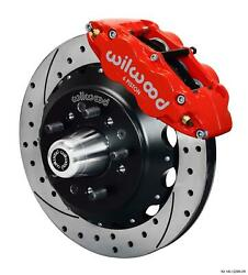 Wilwood 78-88 Monte Carlo Front Disc Big Brake Kit 12.88 Drill Rotor Red