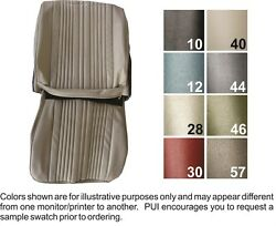 1965 Oldsmobile Cutlass Holiday Front Buckets And Rear Seat Covers - Pui