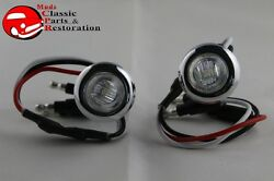 Custom Mini Clear Red Stainless Turn Stop Tail Lamp Lights Truck Hot Rat Rod
