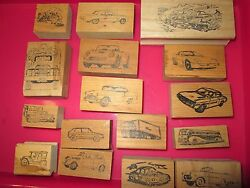 Car And Truck Rubber Stamps Chevy Ford Buick Ferrari Volkswagen Jeep Corvette