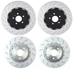 For Audi RS4 Set of 2 Front & Rear Vented & Drilled Disc Brake Rotor OEMBrembo