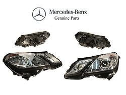 For Mercedes W212 Pair Set Of Front Left And Right Hid Headlight Assemblies Oes