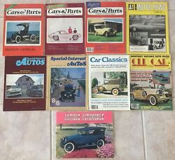 Vintage Lot Of 9 Automobile Magazines Cars And Parts Amn Special Interest 1970s
