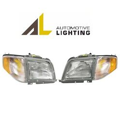 For Mercedes R129 SL320 SL500 SL600 Pair Set of Two Halogen Headlights OEM