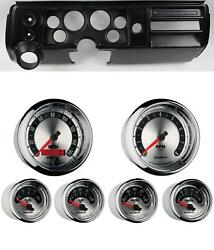68 Chevelle Black Dash Carrier W/ Auto Meter 3-3/8 American Muscle Gauges
