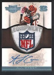 A.j. Green 2011 Plates And Patches Rc Rookie Autograph Nfl Logo Patch Auto Sp 1/1