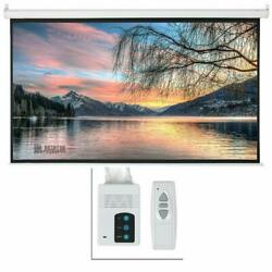 92quot; inch 16:9 HD Electric Motorized Projector Screen Projection Remote Control