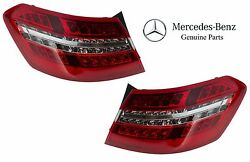 For Mercedes W212 E350 E550 Pair Set of 2 Outer Taillight Assemblies OEM Genuine