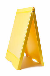 A-BOARD PAVEMENT SIGN MENU SANDWICH BOARD SHOP SIGN FOR A2 SIZE POSTERS YELLOW