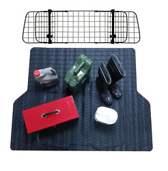 Waterproof Rubber Boot Liner Mat + Dog Barrier Guard For Ford