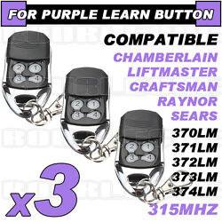 Best 3pk Liftmaster Compatible Remote 370lm 371lm 372lm 373lm 374lm 139.18191