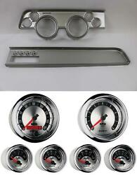 67-68 Cougar W/ac Silver Dash Carrier W/ Auto Meter American Muscle Gauges