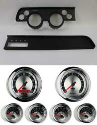67-68 Cougar W/ac Black Dash Carrier W/ Auto Meter American Muscle Gauges