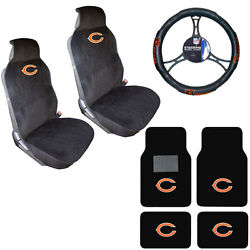 Nfl Chicago Bears Car Truck Seat Covers Steering Wheel Cover And Floor Mats Set