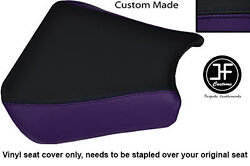 Black And Purple Vinyl Custom Fits Honda Cbr 900 00-01 Front Rider Seat Cover Only