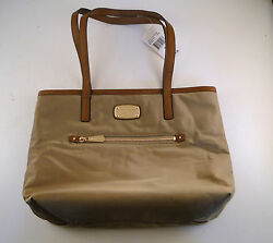 NWT Michael Kors Women's Montauk Nylon MD Designer Tote Bag Handbag Purse Khaki