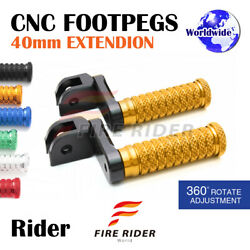 Frw Cnc 6c 40mm Front Footpegs For Tiger 955i 01-07 01 02 03 04 05 06 07