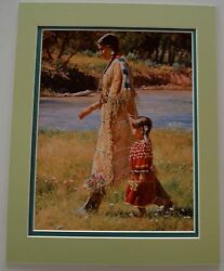 Summer On The Greasy Grass By Martin Grelle Native American 2 Mats Fits 11x14