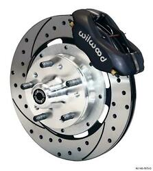 Wilwood 64-72 Chevelle A-body Front Disc Big Brake Kit 12 Drilled Rotor Black