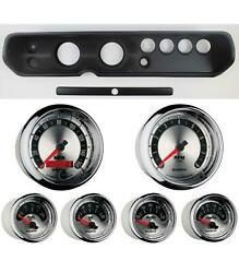 65 Chevelle Black Dash Carrier W/ Auto Meter 3-3/8 American Muscle Gauges