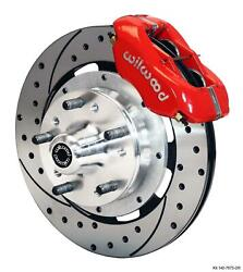 Wilwood 64-72 Chevelle A-body Front Disc Big Brake Kit 12 Drilled Rotor Red