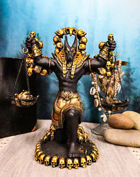 Ebros Anubis Statue Ankh Altar Weighing The Heart Against Feather Figurine 9h