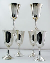 Water Goblets By Manchester Sterling Silver No.808 No Mono