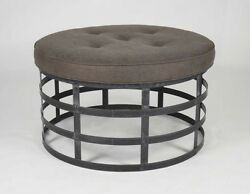 Zentique Recycled Metal New Round Stool 1014 A008