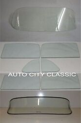 1953 1954 Chev 4 Door Sedan Windshield Vent Doors Rear Back Glass Set Clear