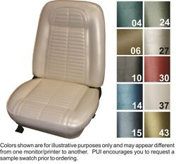 1967 Pontiac Firebird Deluxe Front And Rear Seat Covers - Pui