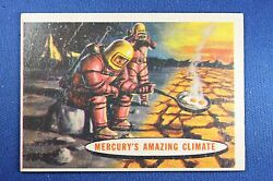 1957 Topps Space Cards - #77 Mercury's Amazing Climate - G/VG Condition