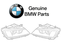 For BMW F25 X3 2014 Set of 2 Right & Left Headlight Assemblies Genuine