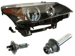 For BMW E60 525i 545i 04 To 0105 OEM Right Xenon Headlight Assembly w Bulbs